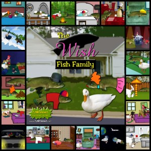 Wish Fish Family Collage